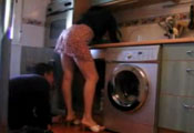 Watch video Plumber upskirt